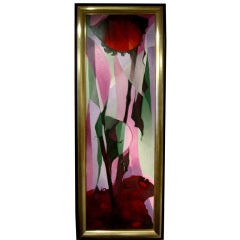 Beautiful painting of flowers by Roumanian artist T Cristina
