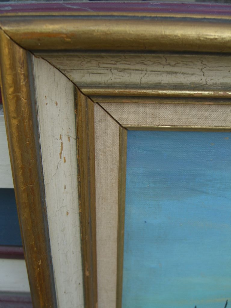 Marine Oil Canvas Painting Noted French Artist Maurice Buffet 6
