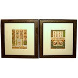 Pr hand colored 19th Cty architectural Lithos Neo-classical