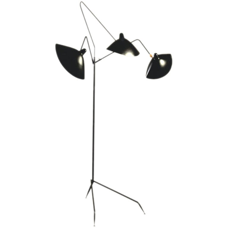 Serge mouille 3 arm standing lamp at 1stdibs - Serge mouille three arm floor lamp ...