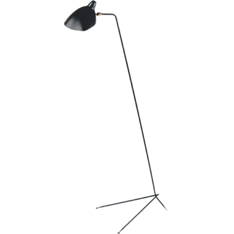 Serge mouille standing floor lamp at 1stdibs Serge mouille three arm floor lamp