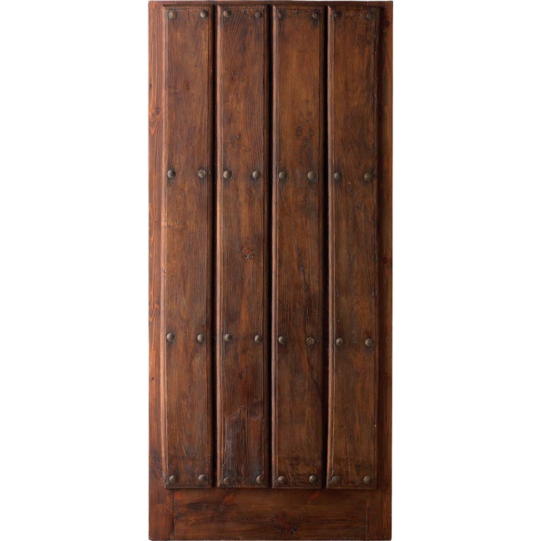 Portera- 18th Century Antique Spanish Door With Iron Clavos at 1stdibs