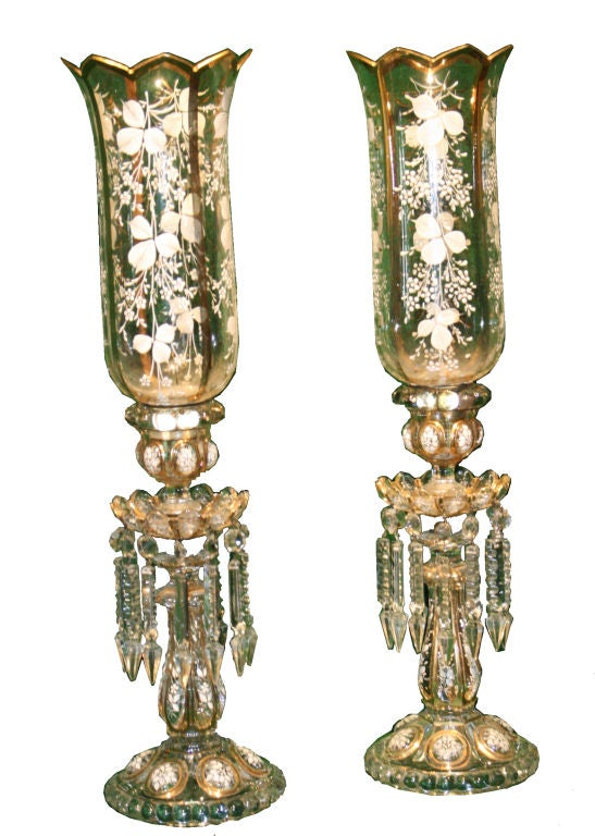 Pair Victorian Candle Holders. at 1stdibs