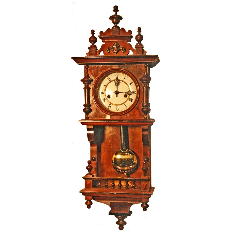 German Miniature Vienna Regulator Wall Clock At 1stdibs
