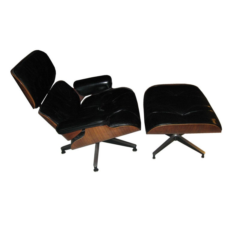 1950 39 s eames rosewood lounge chair and ottoman at 1stdibs for 1950 chaise lounge