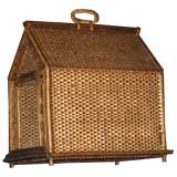 Antique Wicker Dog House