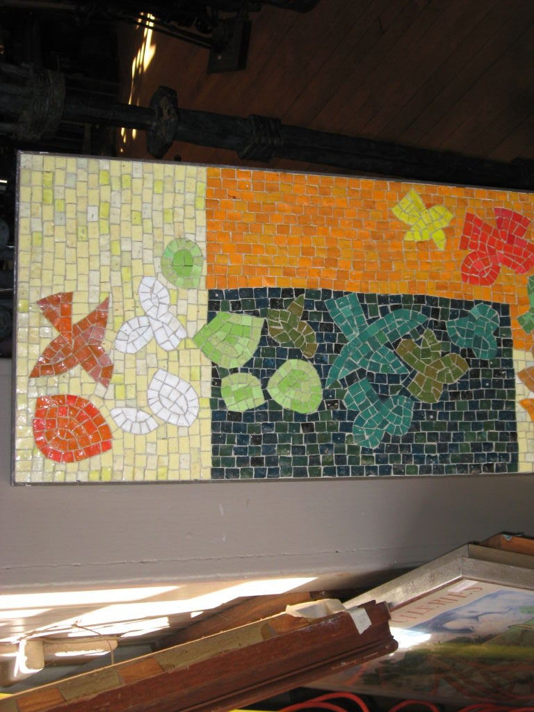 Midcentury mosaic tile design for wall mural at 1stdibs for Art deco tile mural