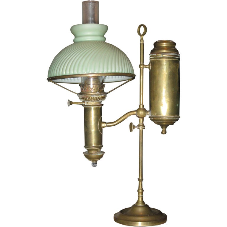 19th Century Student Oil Lamp at 1stdibs