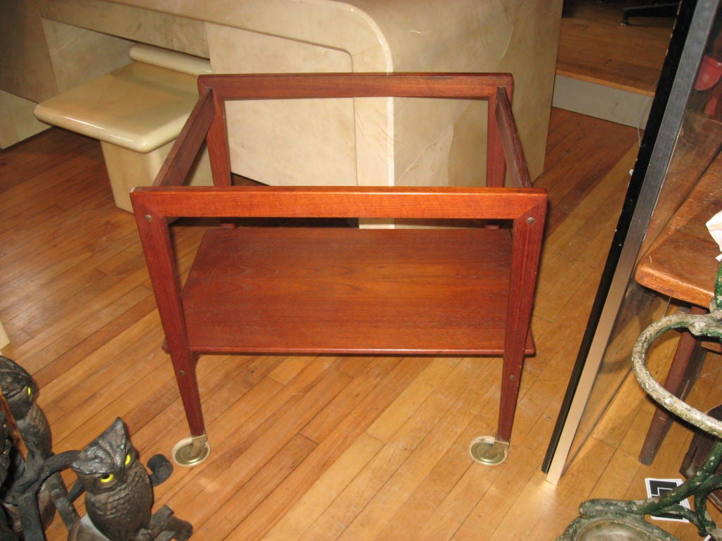 Mid-Century Modern Danish Modern Bar/Serving Cart  by T & E Kindt Larsen For Sale