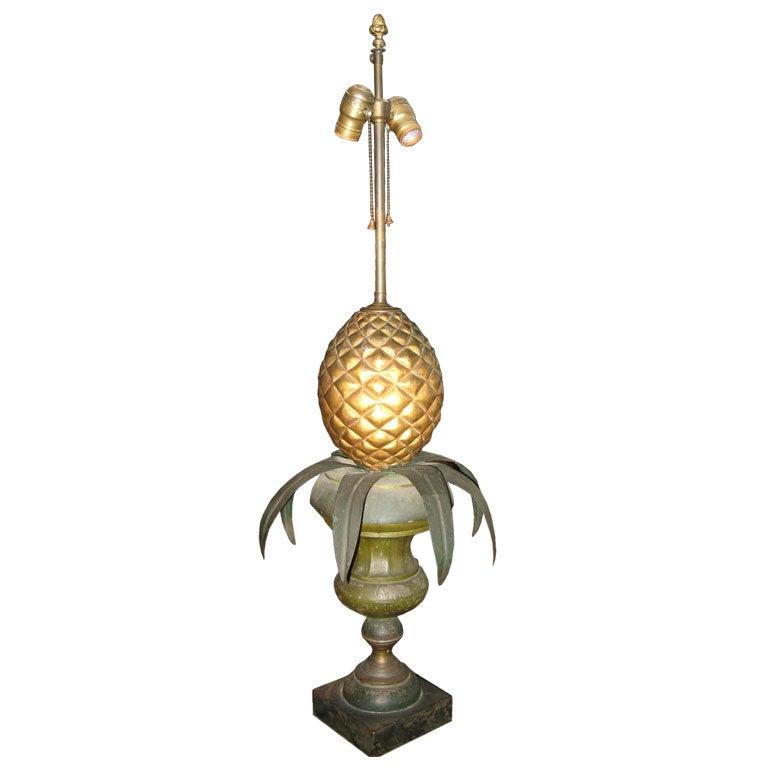 Tin  Pineapple Lamp