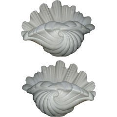 Four-Plaster Shell Wall Sconces