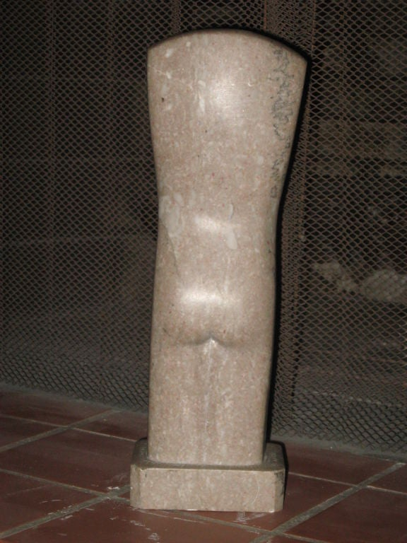 Mid-Century Marble Statue In Good Condition For Sale In Water Mill, NY