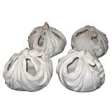Set of four Italian Pottery Flower Holders