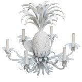 Tin and Plaster  Six Light  Pineapple Chandelier