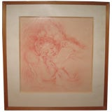 Pastel Painting of Angelic Child by Forbes