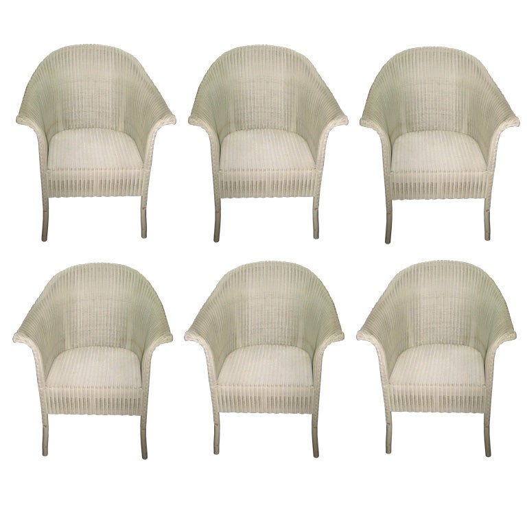 set od six vintage lloyd loom chairs at 1stdibs