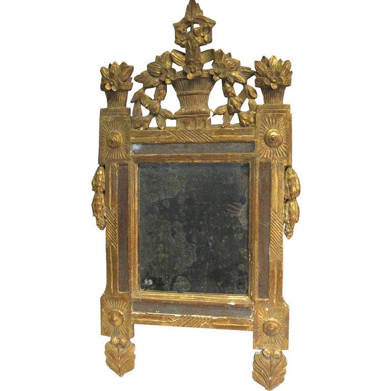 Louis XVI Period Gilt-wood Mirror, France c. 1780