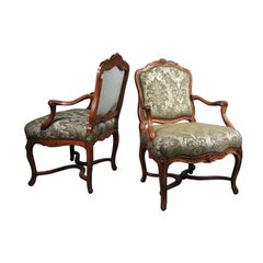 Matched Pair Regence-period Armchairs in Walnut, France c. 1730