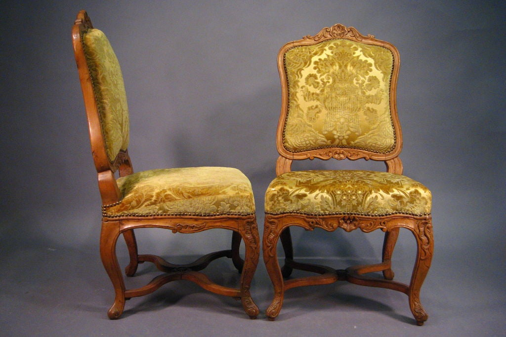 Pair of Regence Period Chairs in Pearwood, France c. 1720 For Sale ...