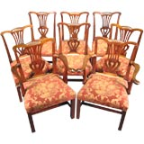 Set of 8 George III Dining Chairs in Mahogany, c. 1780