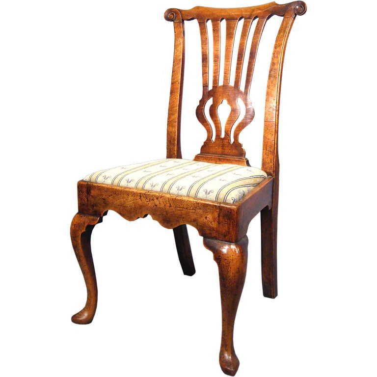 Fine George I Period Chair in Walnut, England, c. 1720