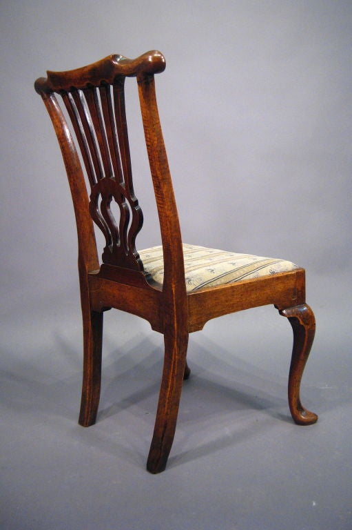 18th Century and Earlier Fine George I Period Chair in Walnut, England, c. 1720