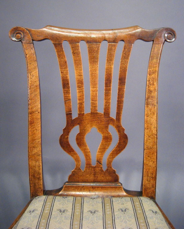 Fine George I Period Chair in Walnut, England, c. 1720 1