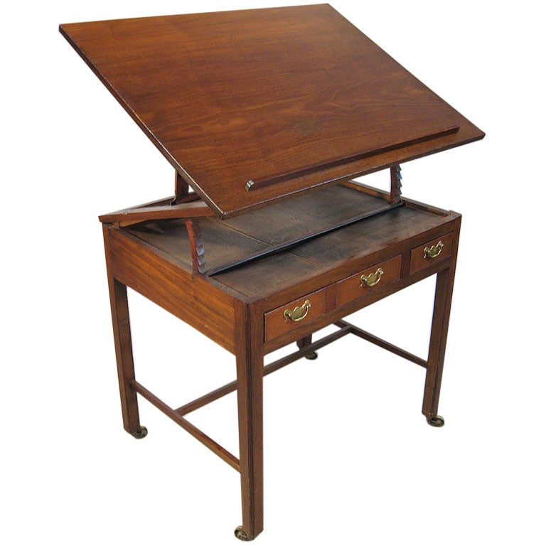 George iii mahogany architect 39 s desk england ca 1760 at for Architecte desl definition
