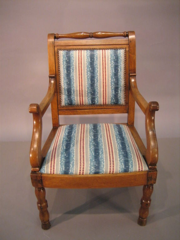 provencial louis philippe fauteuil in walnut c 1840 at 1stdibs