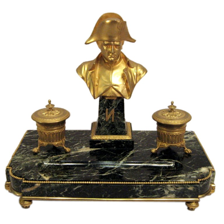 19th Century Bronze Dore  Napolean Ink Well, France.