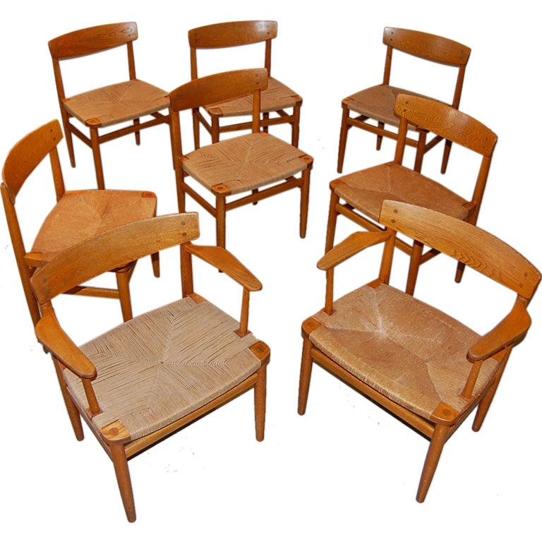 8 Borge Mogensen Shaker Dining Chairs at 1stdibs