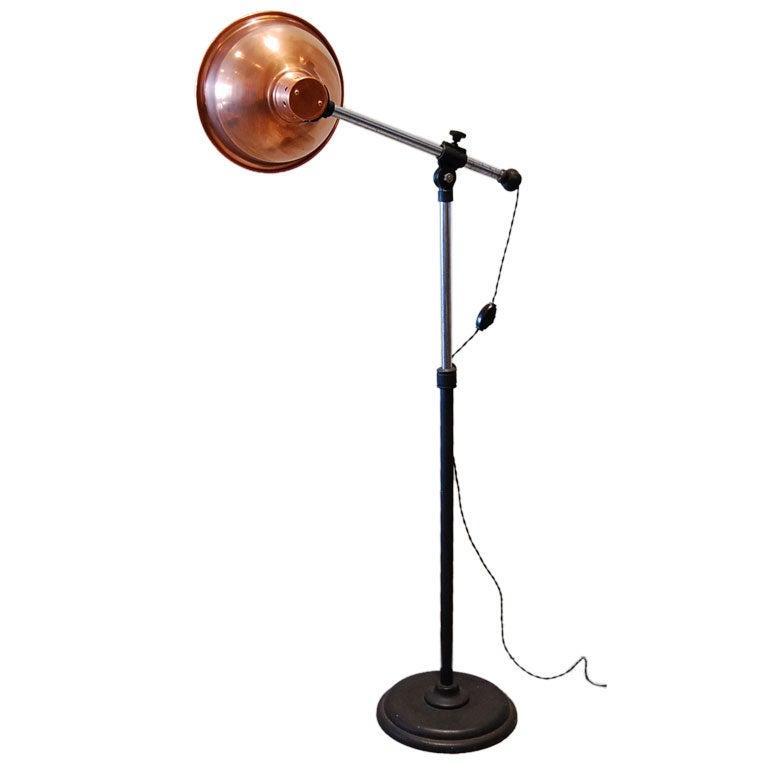 Vintage Copper Medical Floor Lamp At 1stdibs