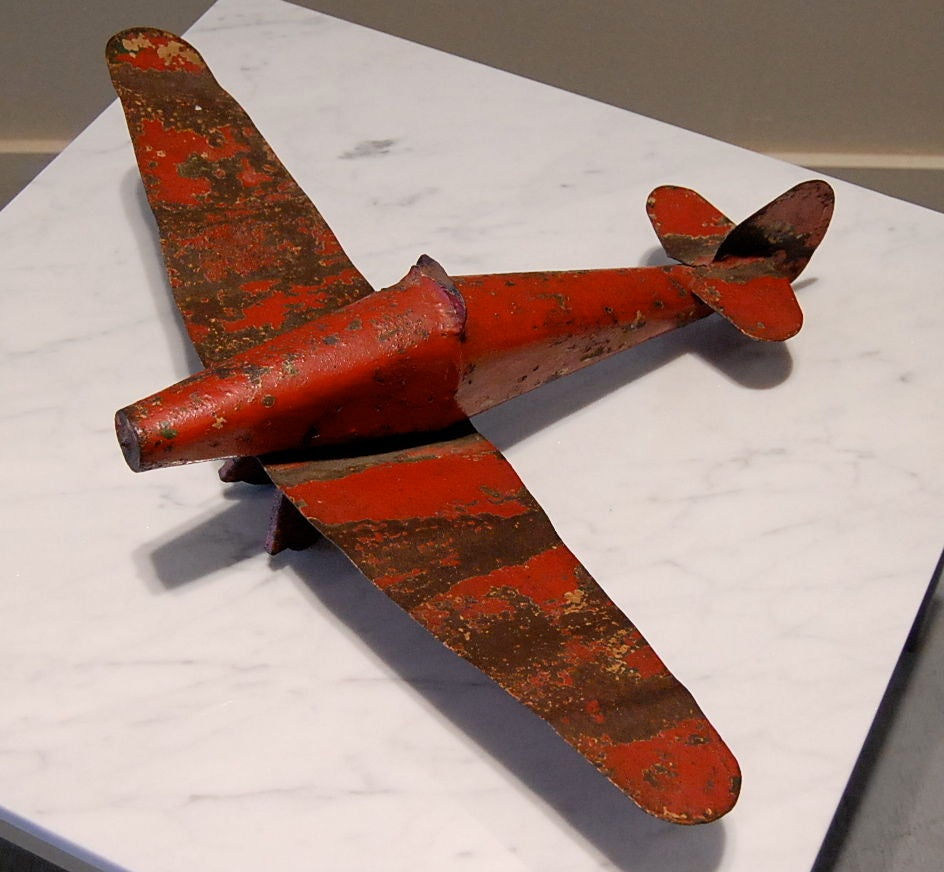 Vintage Metal Airplane Model image 2