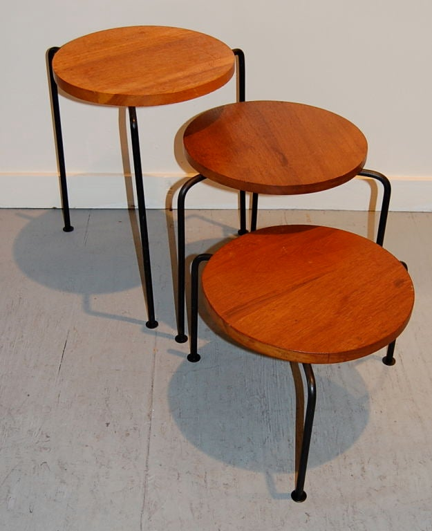 Luther Conover Nesting Stools at 1stdibs