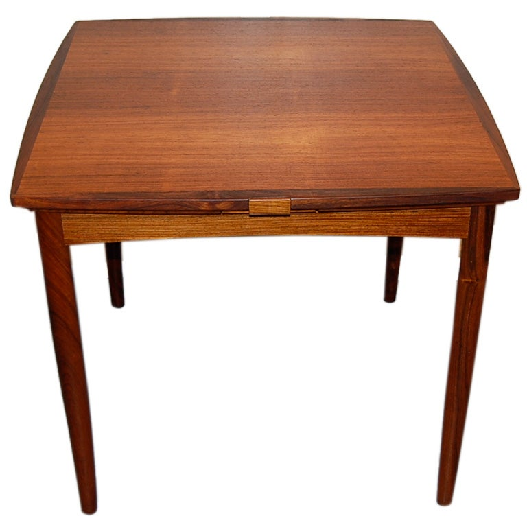 Compact rosewood dining and game table at 1stdibs for Dining room game table