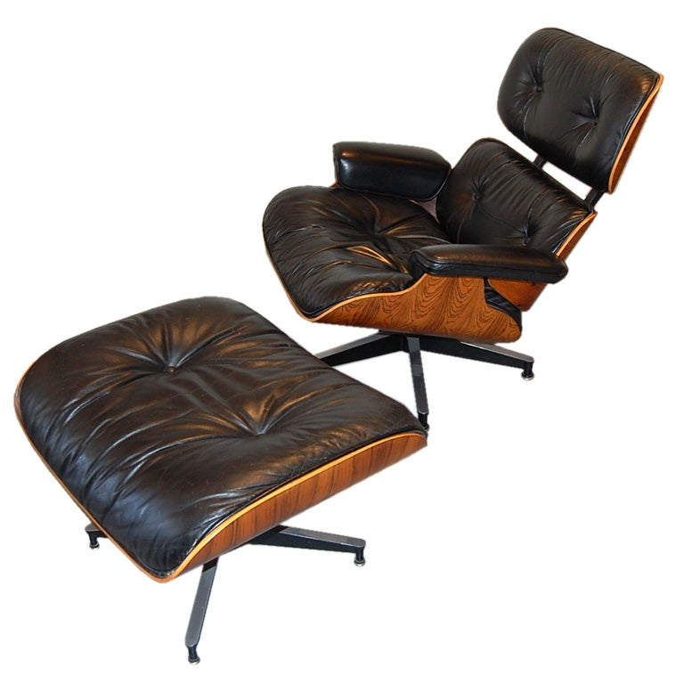 Eames 670 Rosewood Lounge & Ottoman 1