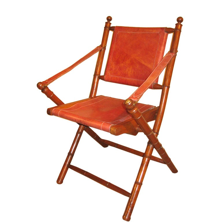 Folding French Campaign Chair At 1stdibs