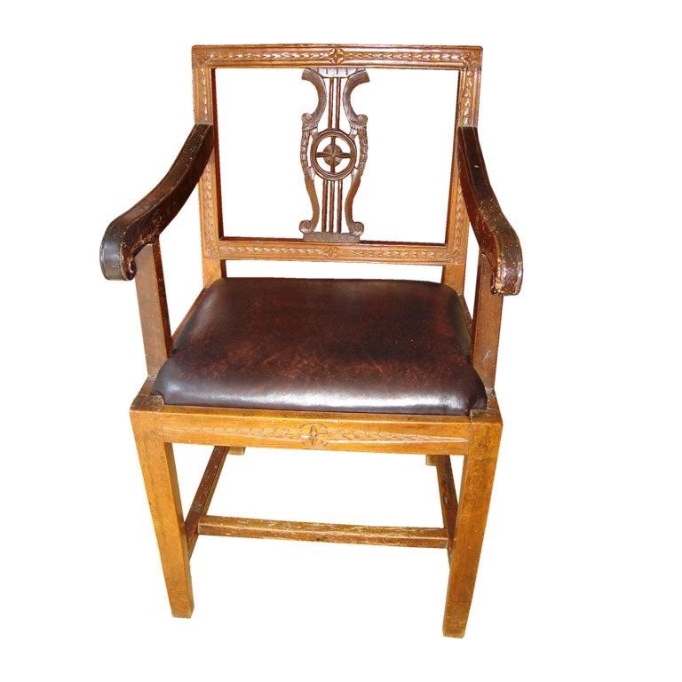 Italian Neoclassic Armchair