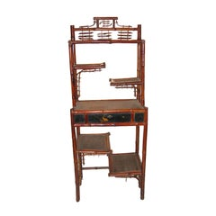 Asian Bamboo Etagere