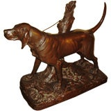 Large Auguste Cain Bronze of Hunting Dog