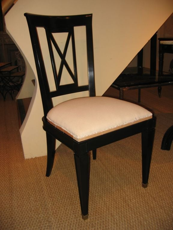 posts via black lacquer dining room chairs the vanity was