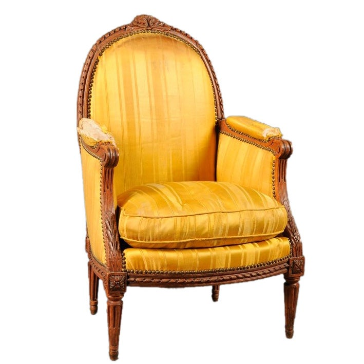 louis xvi period bergere chair at 1stdibs. Black Bedroom Furniture Sets. Home Design Ideas