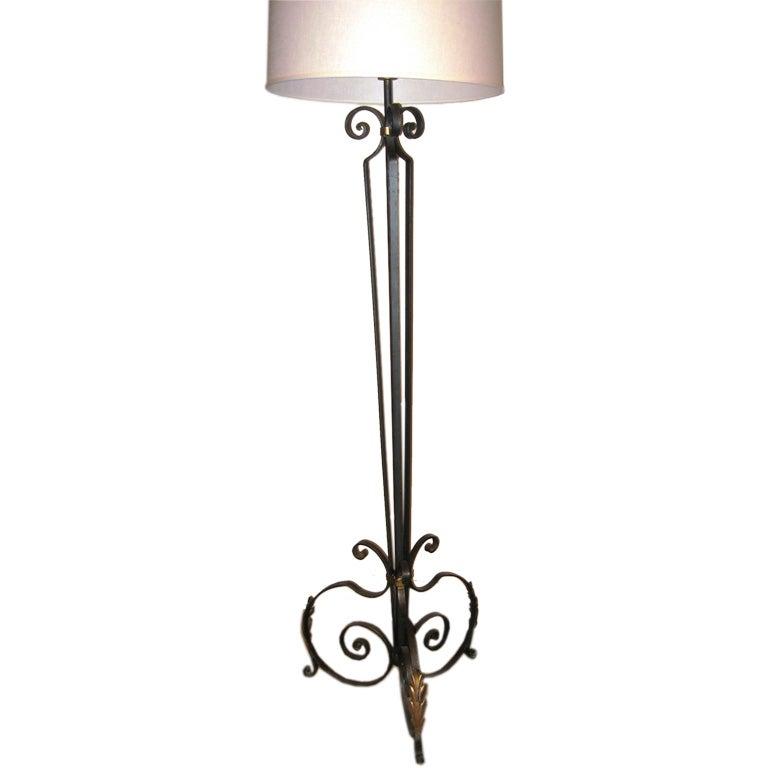 wrought iron floor lamp at 1stdibs. Black Bedroom Furniture Sets. Home Design Ideas