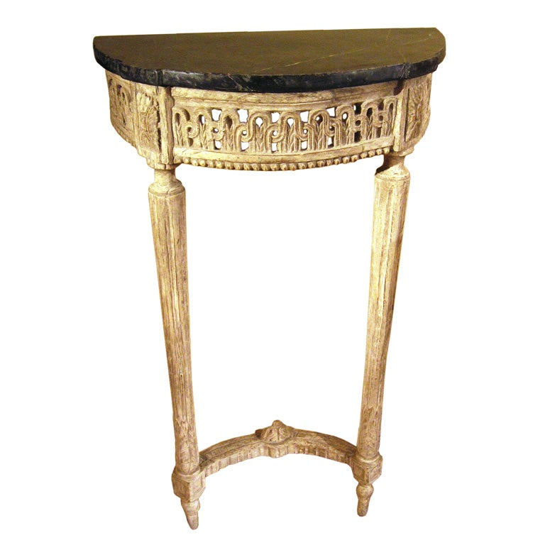 petite louis xvi period console table signed p dumagny at 1stdibs. Black Bedroom Furniture Sets. Home Design Ideas