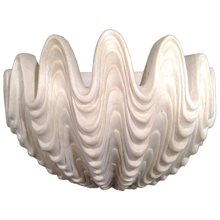 Pair of Plaster Wall Sconces after Serge Roche at 1stdibs