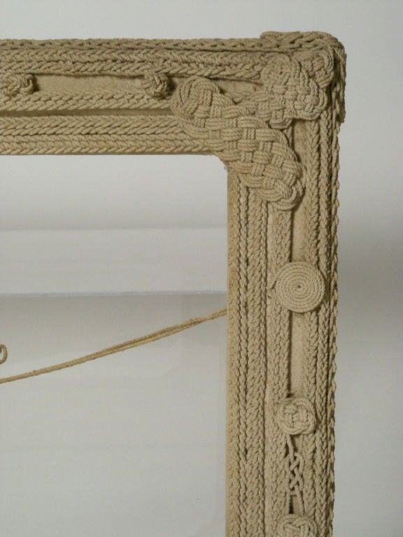 Nautical rope frame at 1stdibs Rope photo frame