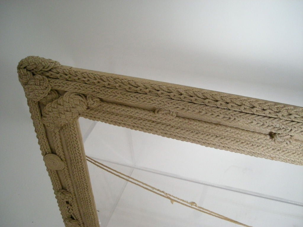 Nautical Rope Frame At 1stdibs