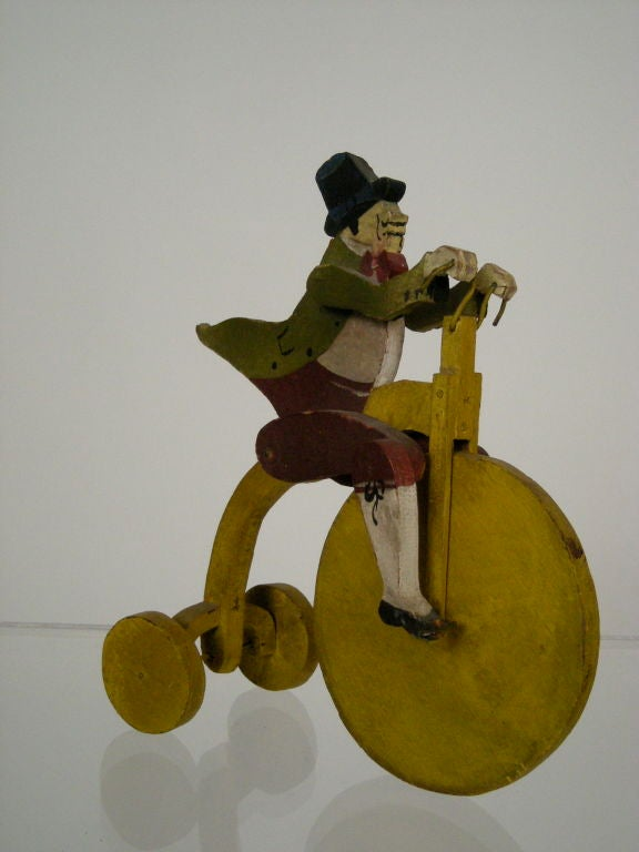 WHIMSICAL GENTLEMAN ON BICYCLE TOY image 3