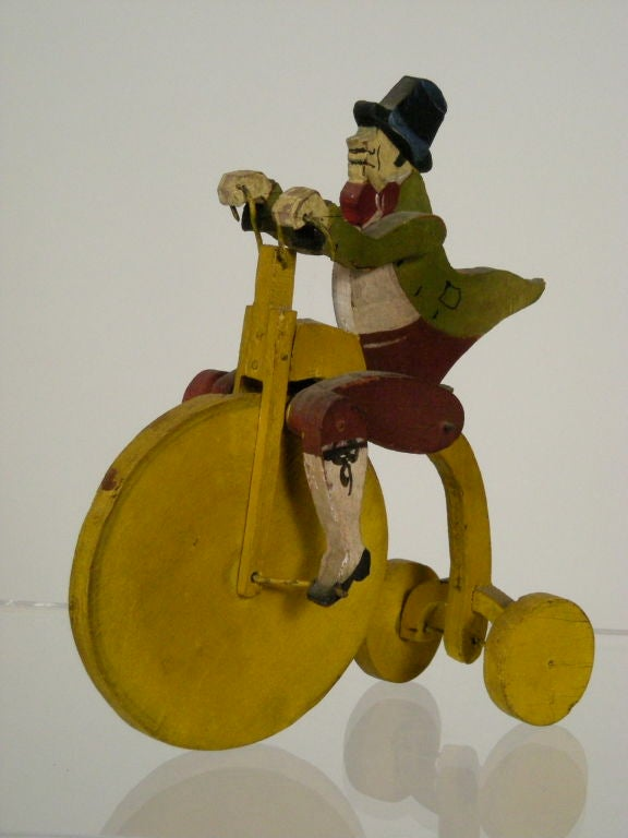 WHIMSICAL GENTLEMAN ON BICYCLE TOY image 5