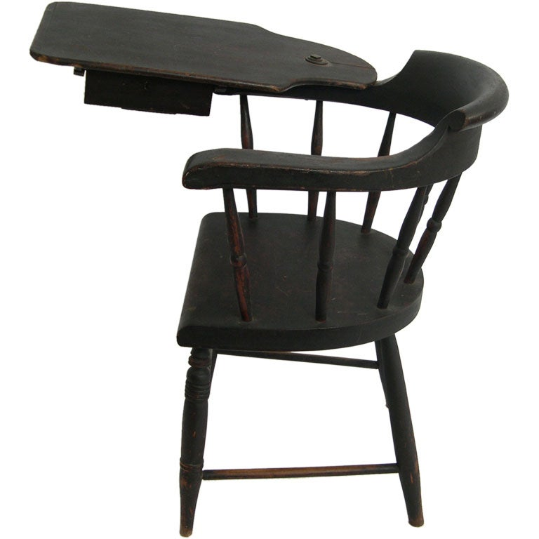Captains Arm Chairs ~ Th c sea captain s windsor writing arm chair at stdibs